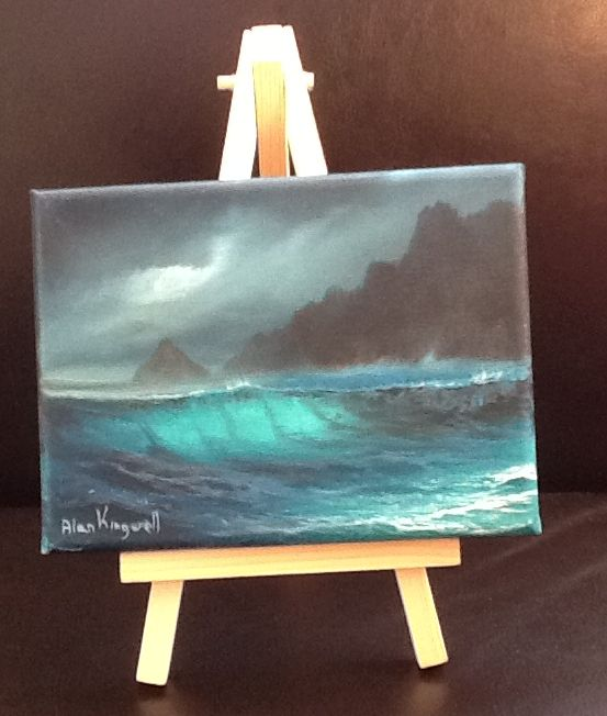 Seascape 1  on Canvas with Easel